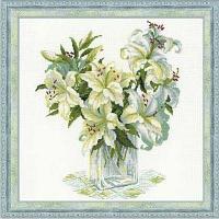 """Набор для вышивания крестом """"Белые лилии"""""""