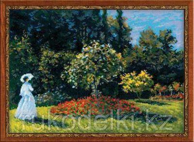 """Набор для вышивания крестом """"""""Дама в саду""""  по мотивам картины К.Моне"""""""