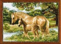 """Набор для вышивания крестом """"Лошадь с жеребёнком"""""""