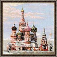 """Набор для вышивания крестом """"Москва. Собор Василия Блаженного"""""""
