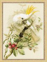 """Набор для вышивания крестом """"Белый какаду"""""""