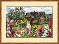 """Набор для вышивания крестом """"Цветущий сад"""""""
