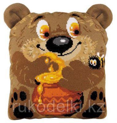 """Набор для вышивания крестом """"Подушка. Медвежонок"""""""