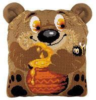 """Набор для вышивания крестом """"Подушка. Медвежонок"""", фото 1"""