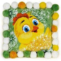 """Набор для вышивания крестом """"Подушка. Цыпленок"""", фото 1"""