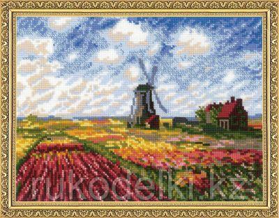 """Набор для вышивания крестом """"""""Поле с тюльпанами""""  по мотивам картины К. Моне"""""""