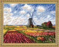 """Набор для вышивания крестом """"""""Поле с тюльпанами""""  по мотивам картины К. Моне"""", фото 1"""