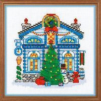 """Набор для вышивания крестом """"Ледяной домик"""""""