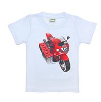 """Детская футболка """"Реальный пацан"""". Рост 86-92 см, На 1-2 года."""