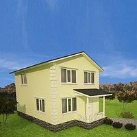 С11-Cтроительство дома из SIP панелей стандартной планировки 108 м2, высотой потолка 2,85 метра