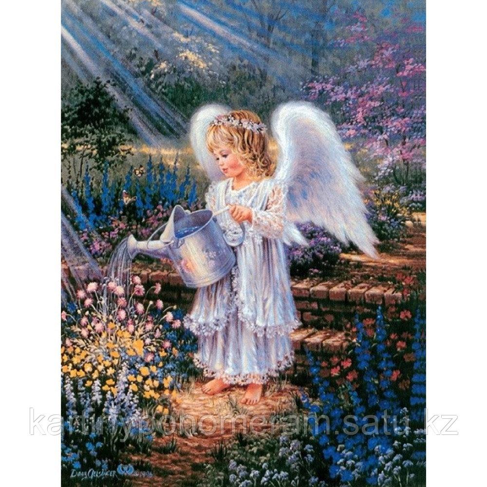 """Картина по номерам """"Ангел поливает цветы"""""""
