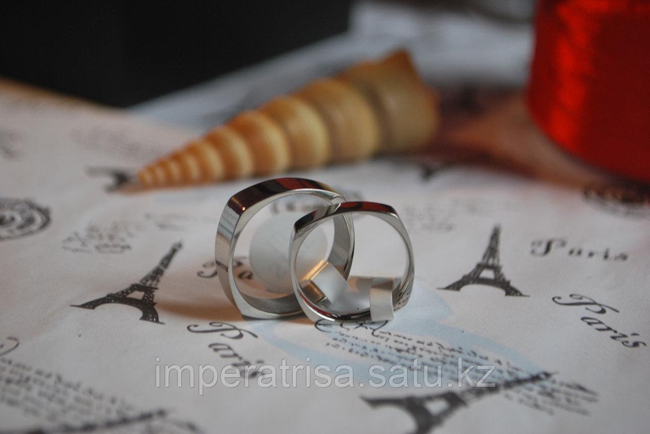 """Парные кольца для влюбленных """"Стильные"""" 2"""