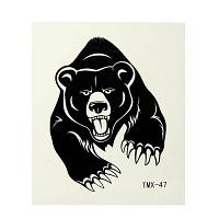 Флэш тату Черный медведь