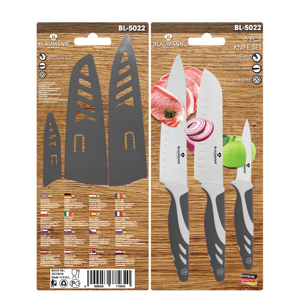 Набор ножей из нержавеющей стали Blaumann (6 пр.)