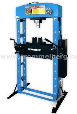 Пресс напольный с манометром и лебедкой (50 т) Trommelberg SD200825