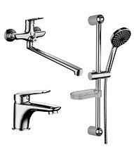 Комплект смесителей для ванной Lemark «3 в 1» – LM7302C