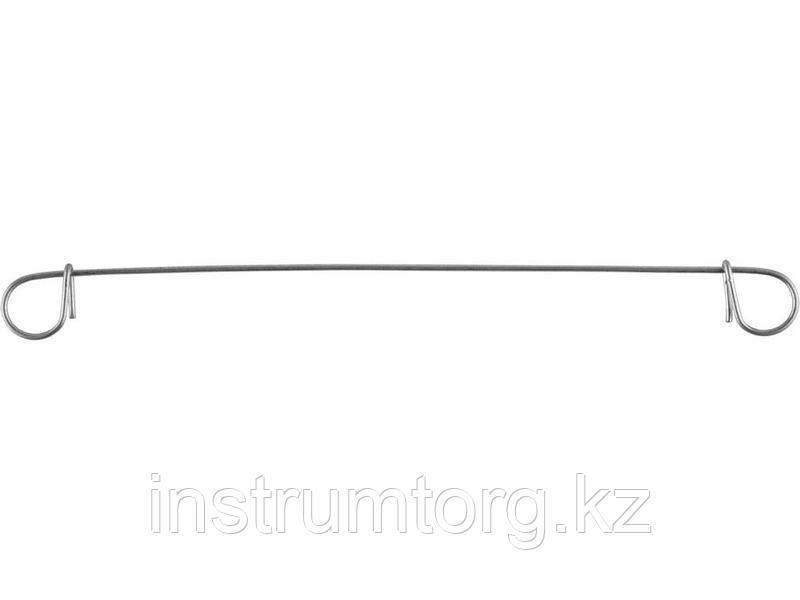Проволока оцинкованная ЗУБР гальванизиров для вязки арматуры с кольцами, сумм d=38 мм, d=1,2 мм, L=140 мм, 100