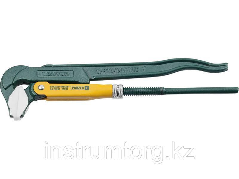 KRAFTOOL PANZER-A, №1, ключ для сантехнической арматуры, прямые губки