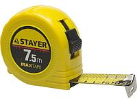 STAYER MaxTape 7.5м / 25мм рулетка в ударопрочном корпусе из ABS