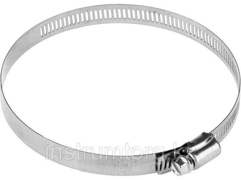 Хомуты, нерж. сталь, просечная лента 12.7 мм, 105-127 мм, 50 шт, ЗУБР Профессионал