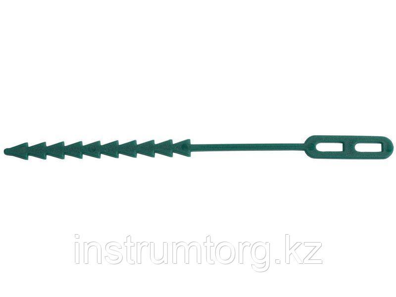 Крепление GRINDA для подвязки растений, регулируемое, тип - пластиковый хомут с фиксатором, 125мм, 50шт