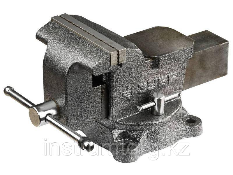 ЗУБР МАСТЕР, 150 мм, тиски слесарные