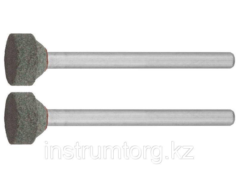 Круг ЗУБР абразивный шлифовальный из карбида кремния на шпильке