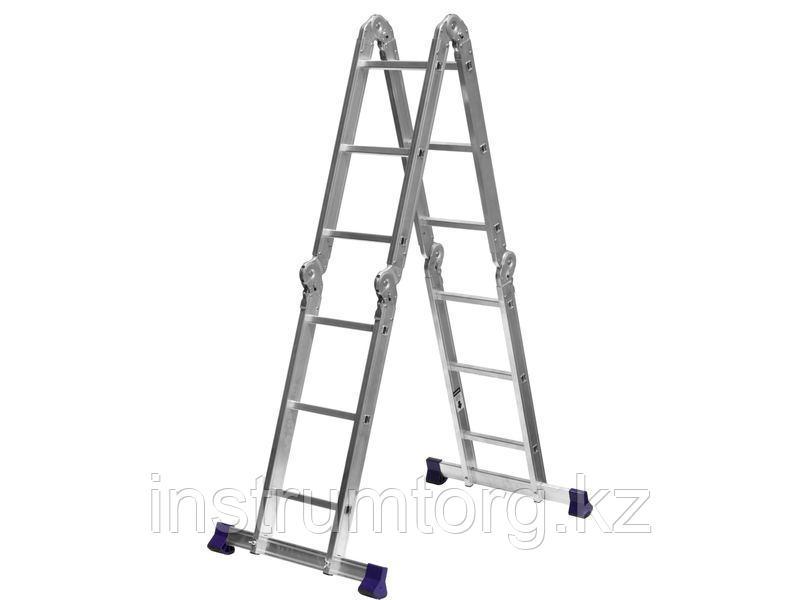 СИБИН ЛТ-43 лестница-трансформер, 4x3 ступени, алюминиевая.