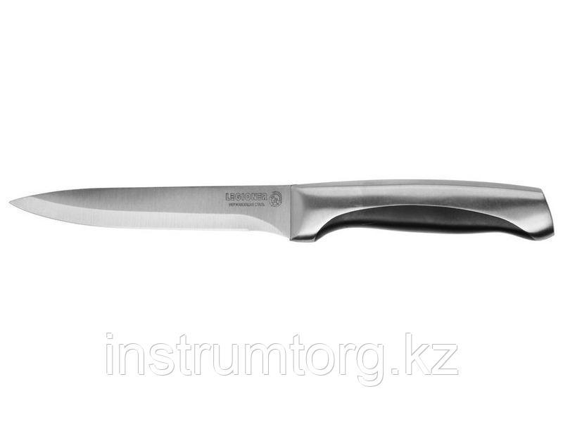 """Нож LEGIONER """"FERRATA"""" универсальный, рукоятка с металлическими вставками, лезвие из нержавеющей стали, 125мм"""