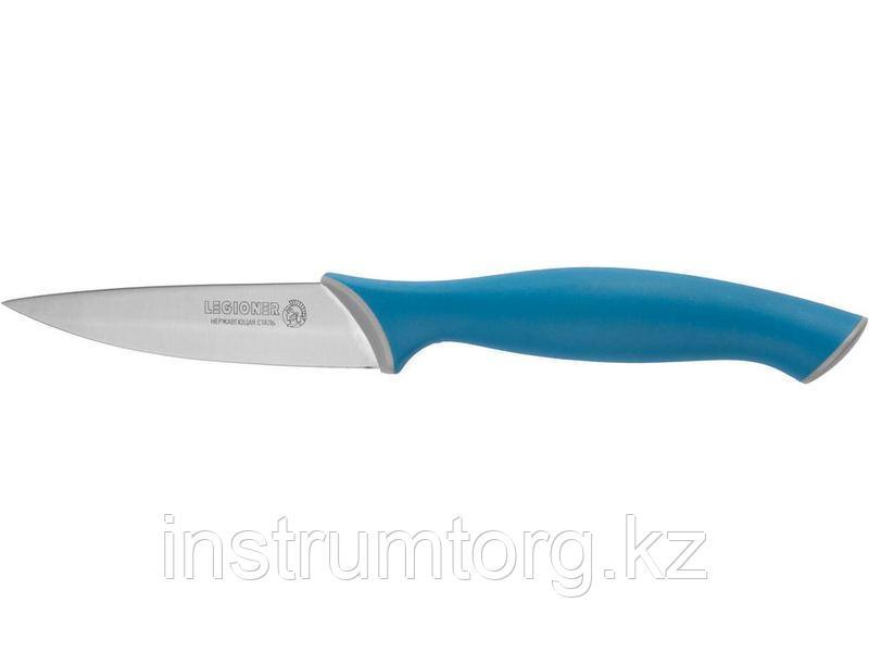 """Нож LEGIONER """"ITALICA"""" овощной, эргономичная рукоятка, лезвие из нержавеющей стали, 90мм"""
