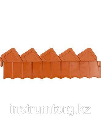 Ограждение для клумб, GRINDA 8-422303, 288см, цвет коричневый
