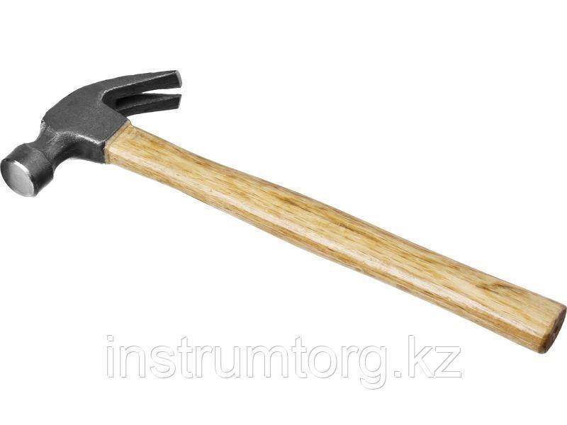 """Молоток-гвоздодер STAYER """"STANDARD"""" TopStrike с деревянной ручкой"""