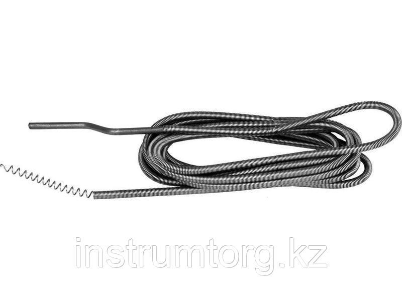 Трос СИБИН сантехнический, длина 5 м, d=9 мм