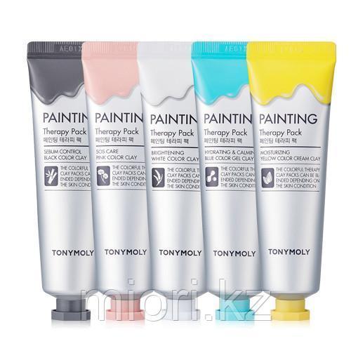 Оригинальная линейка цветных смываемых масок для лица Tony Moly Painting Therapy Pack,35мл