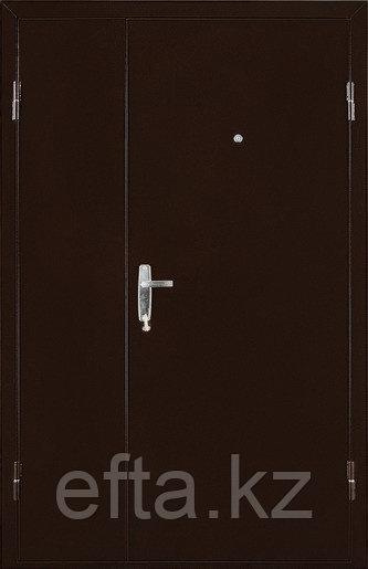 Дверь Квартет двухстворчатая 2050/1250/104 R/L метал\метал