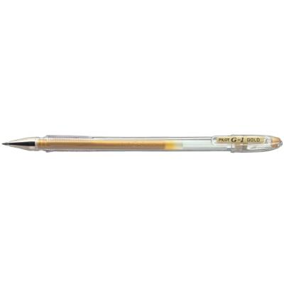 Ручка гелевая Pilot G-1 GEL TYPE INK METALLIC 0,7 мм, золотистый