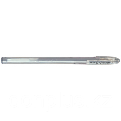 Ручка гелевая Pilot G-1 GEL TYPE INK METALLIC 0,7 мм, серебристый