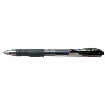 Ручка гелевая автом. Pilot G-2 GEL RETRACT 0,7 мм, черный