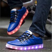 LED Кроссовки со светящейся подошвой, синие низкие Weise, 35-42 40