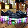 LED Кроссовки детские со светящейся подошвой, классические синие, низкие