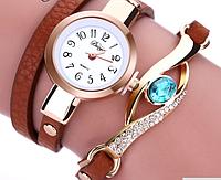 """Часы-браслет """"Жаклин"""" коричневые"""