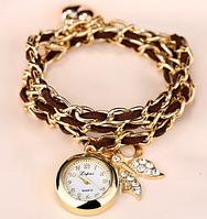 """Часы-браслет """"Нежность"""" коричневые"""