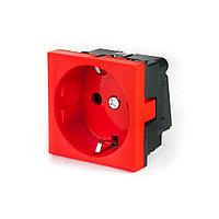 Рувинил, Розетка электрическая, 45x45 мм, Красная, 250В, 16А, фото 1