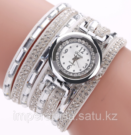"""Часы-браслет """"Сверкай"""" белые"""