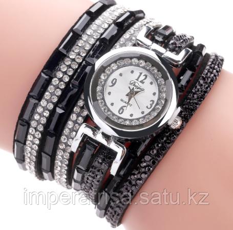 """Часы-браслет """"Сверкай"""" черные"""