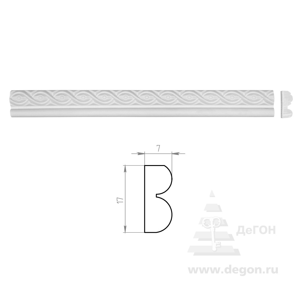 Молдинг Ширина 17 мм. Толщина 7 мм.