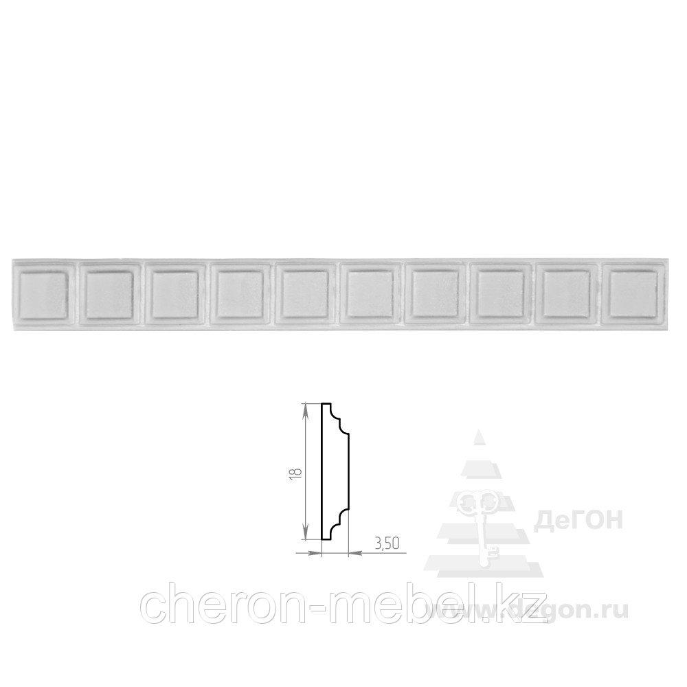 Молдинг Ширина 18 мм. Толщина 3,5 мм.