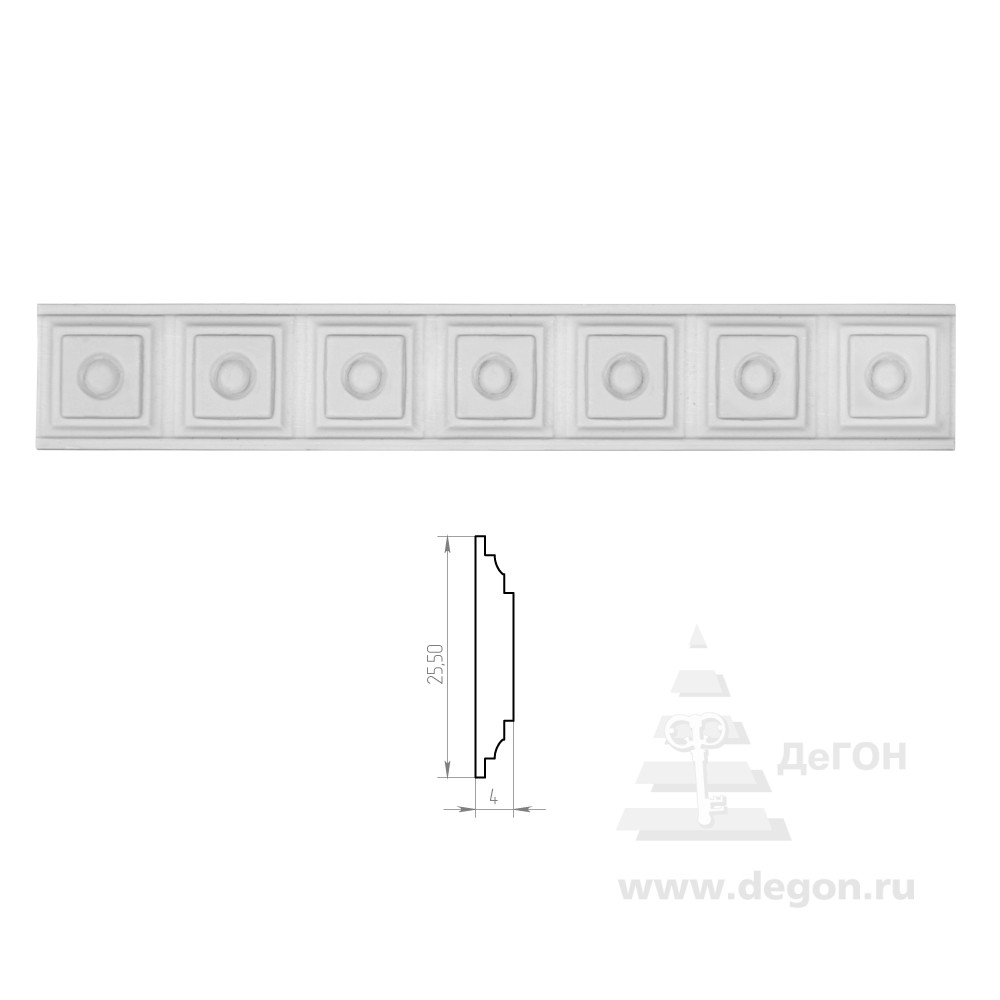 Молдинг Ширина 25,5 мм. Толщина 4 мм.