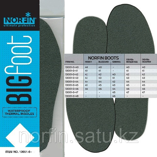 Стельки бахилы термо Norfin BIGFOOT непромокаемые р.41