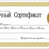 Печать сертификатов  в Алматы Заказать сертификаты в Алматы Дизайн сертификатов в Алматы, фото 3